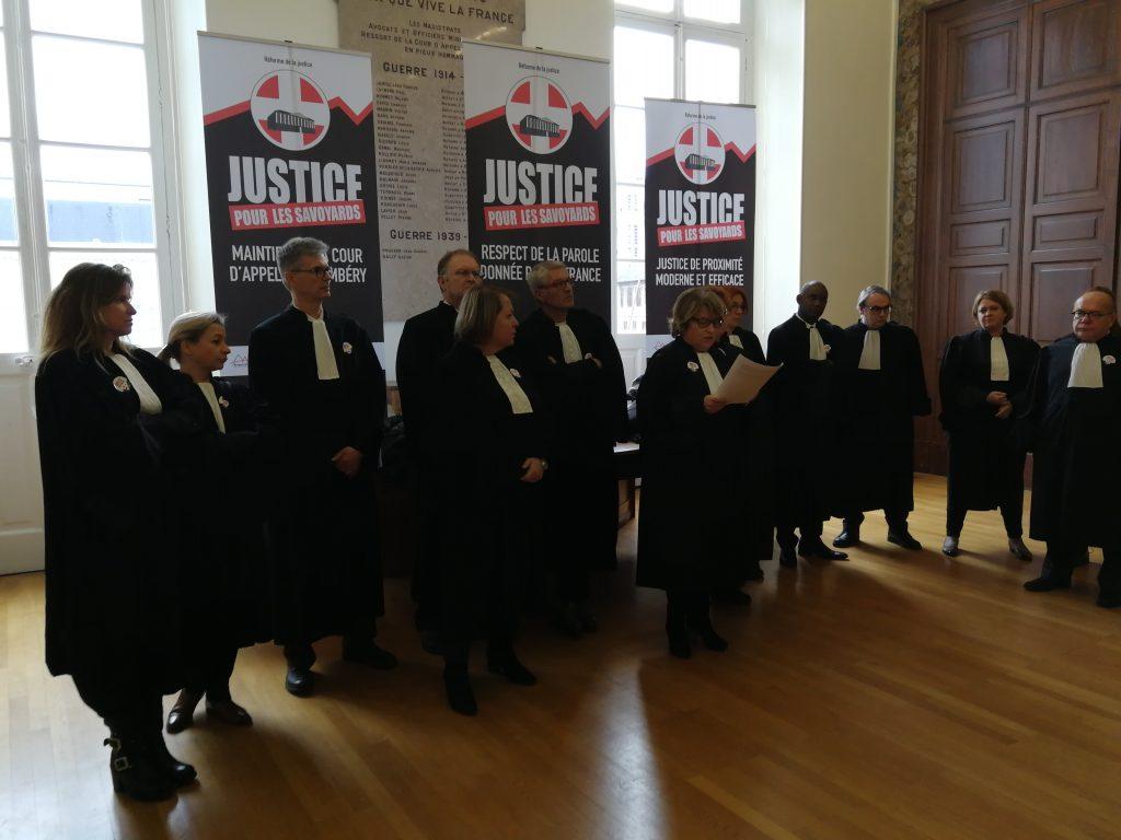 Les cinq barreaux de Savoie et Haute-Savoie appellent à la journée justice morte le 21 mars