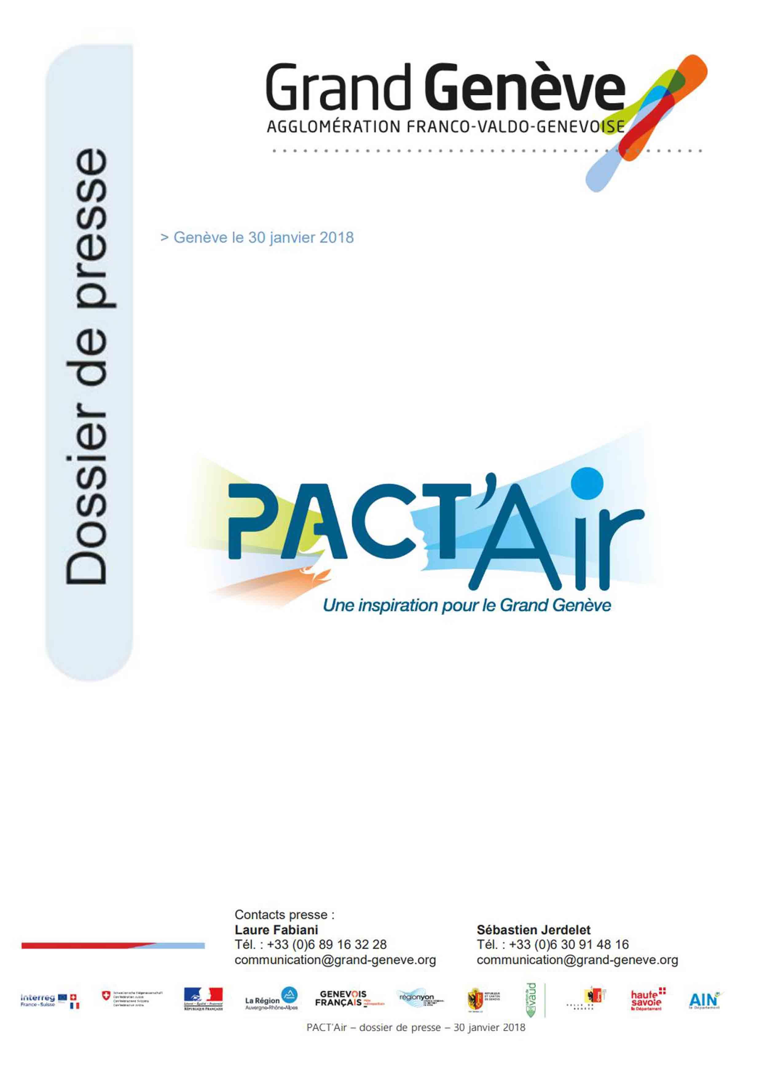 Dossier de presse Pact'Air Grand Genève