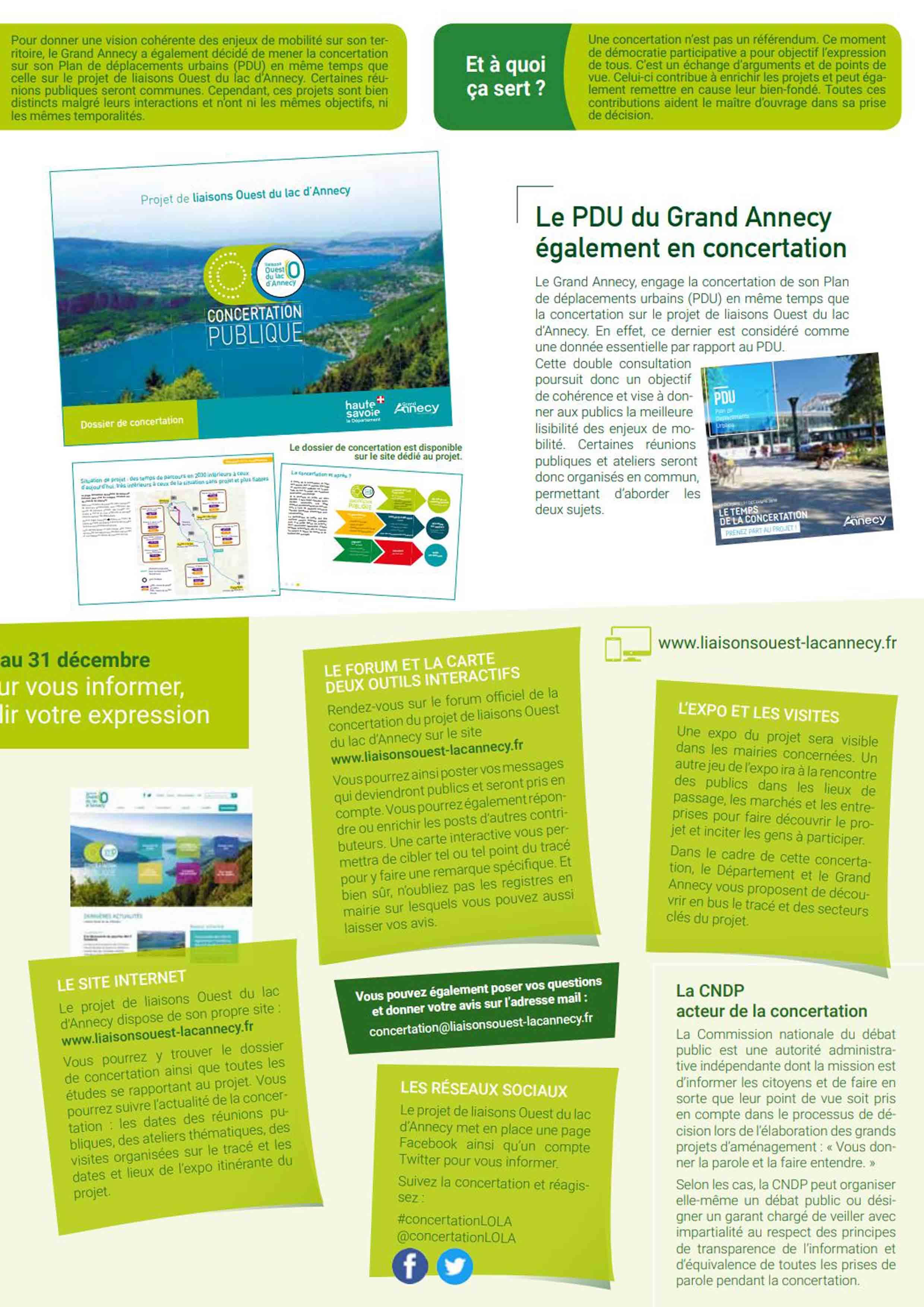 Newsletter projet PDU Annecy