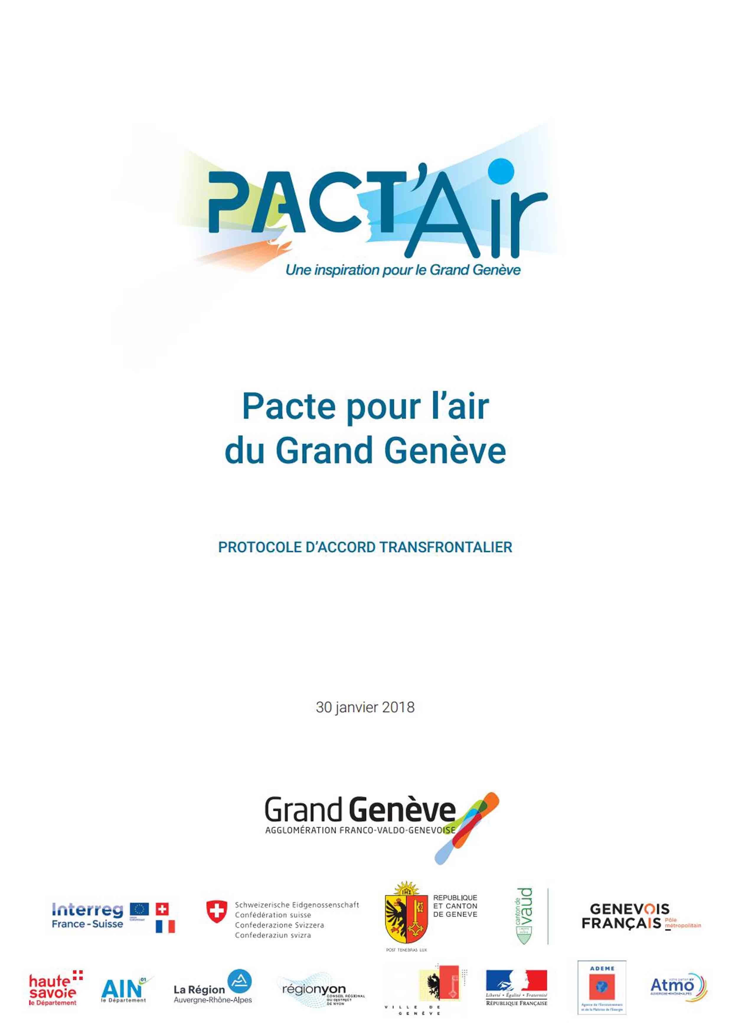 Protocole d'accord transfrontalier Grand Genève