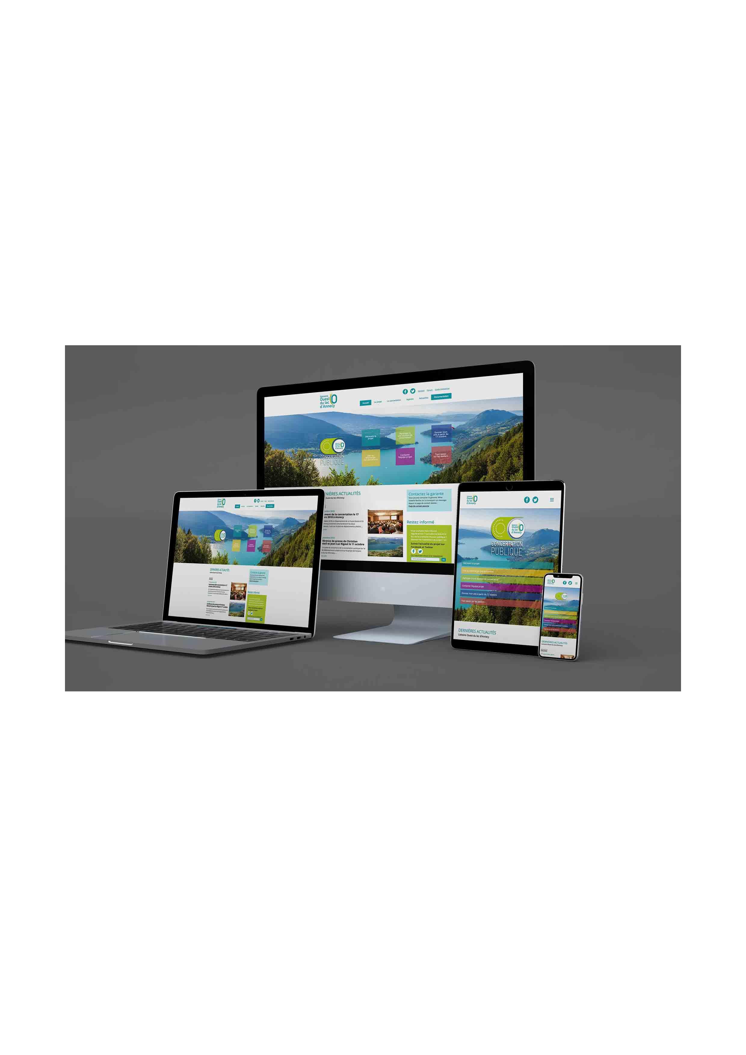 Site du projet Lola sur différents supports numériques